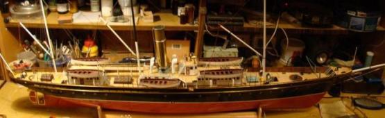 Модель яхты Тамара ручной работы