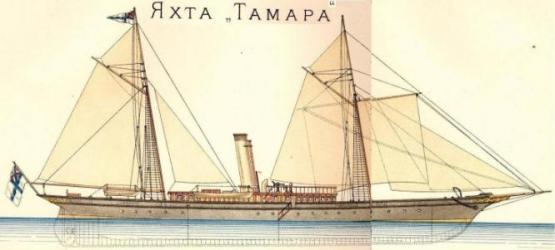 Чертёж яхты Тамара.