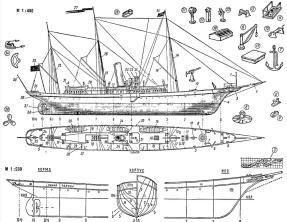 яхта Колхида. чертеж