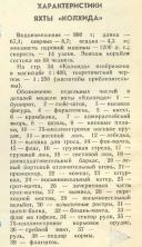 Планы  яхты Колхида. чертеж спецификация